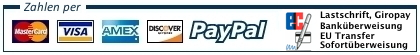 LEV Lastschriften Visa Amex PayPal Bank Check